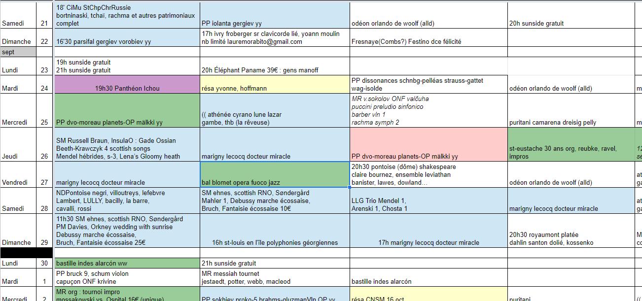 agenda CSS